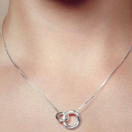 Collier 2 anneaux Christofle