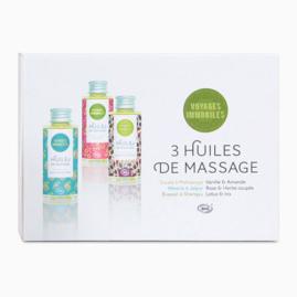 Trio d'huiles de massage bio